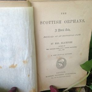 no brand Other - Scottish Orphans moral tale  Blackford 1865 book